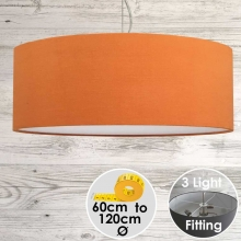 Cara Large Orange Drum Lampshade